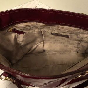 Michael Kors Bags - Michael Kors Jet Set Patent Leather Burgundy Bag
